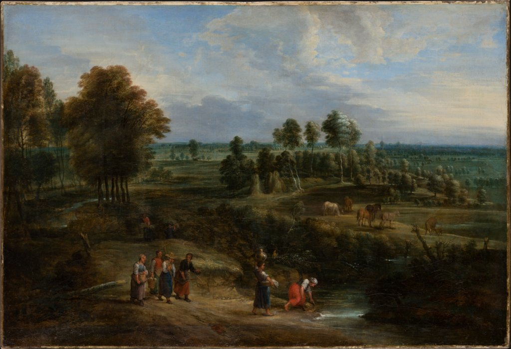 Landscape with Pastures and Clusters of Trees, Lucas van Uden