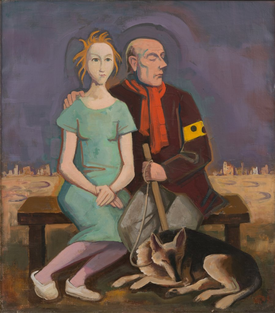 The Blind Man and the Girl, Karl Hofer
