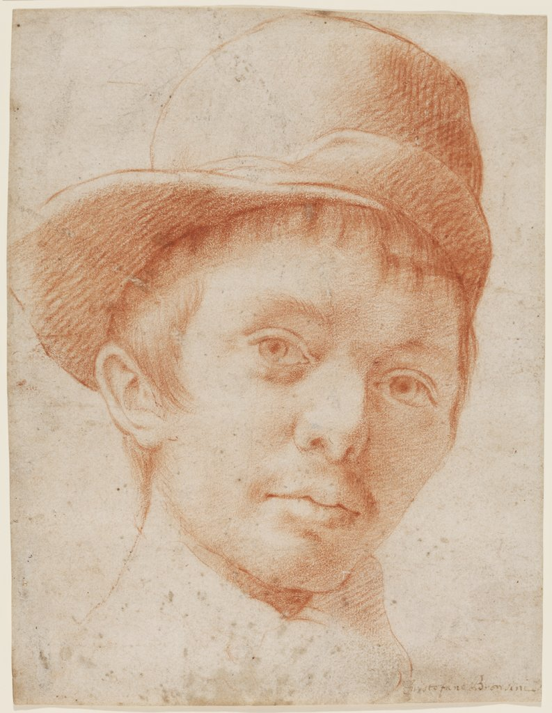 A boy wearing a workman's hat, Cristofano Allori