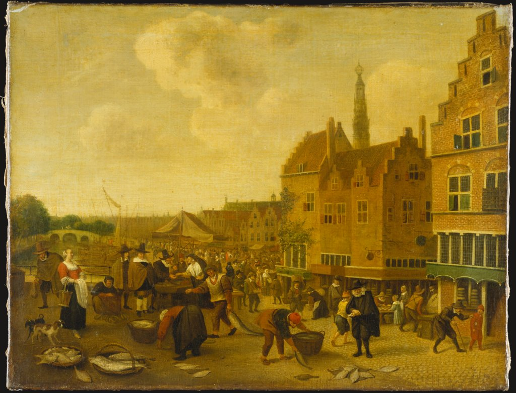The Fish Market at Leyden, Jan Steen