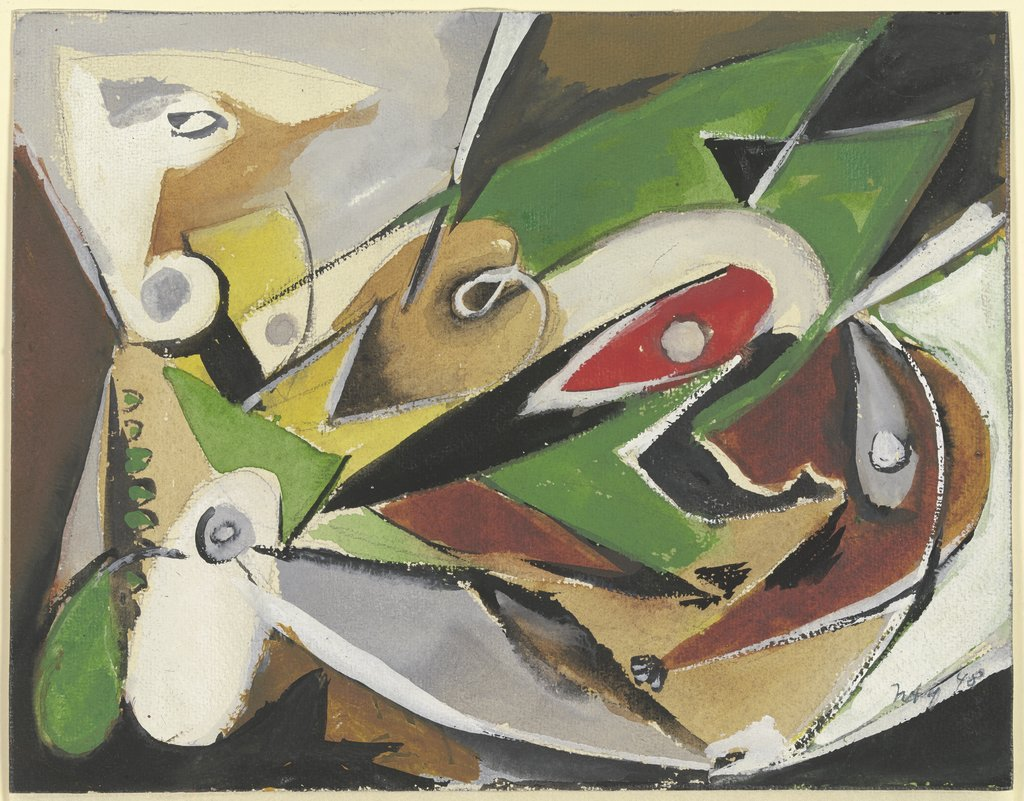 Two Figures, Ernst Wilhelm Nay