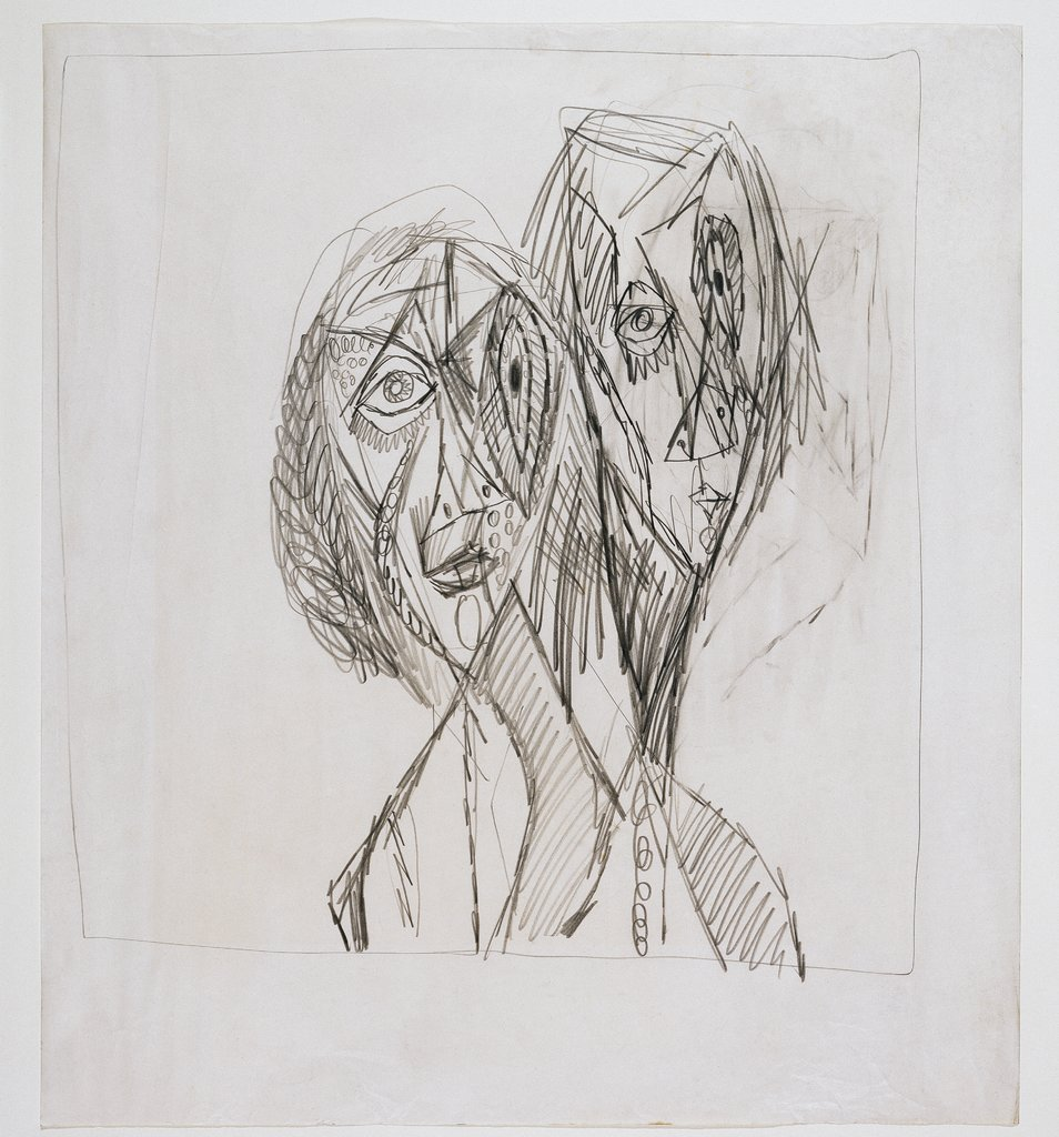Two heads, Ernst Wilhelm Nay