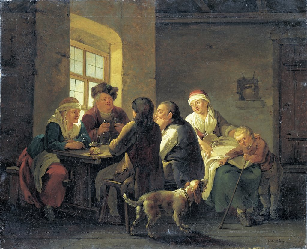 A Family Lunching in a Tavern, Georg Melchior Kraus