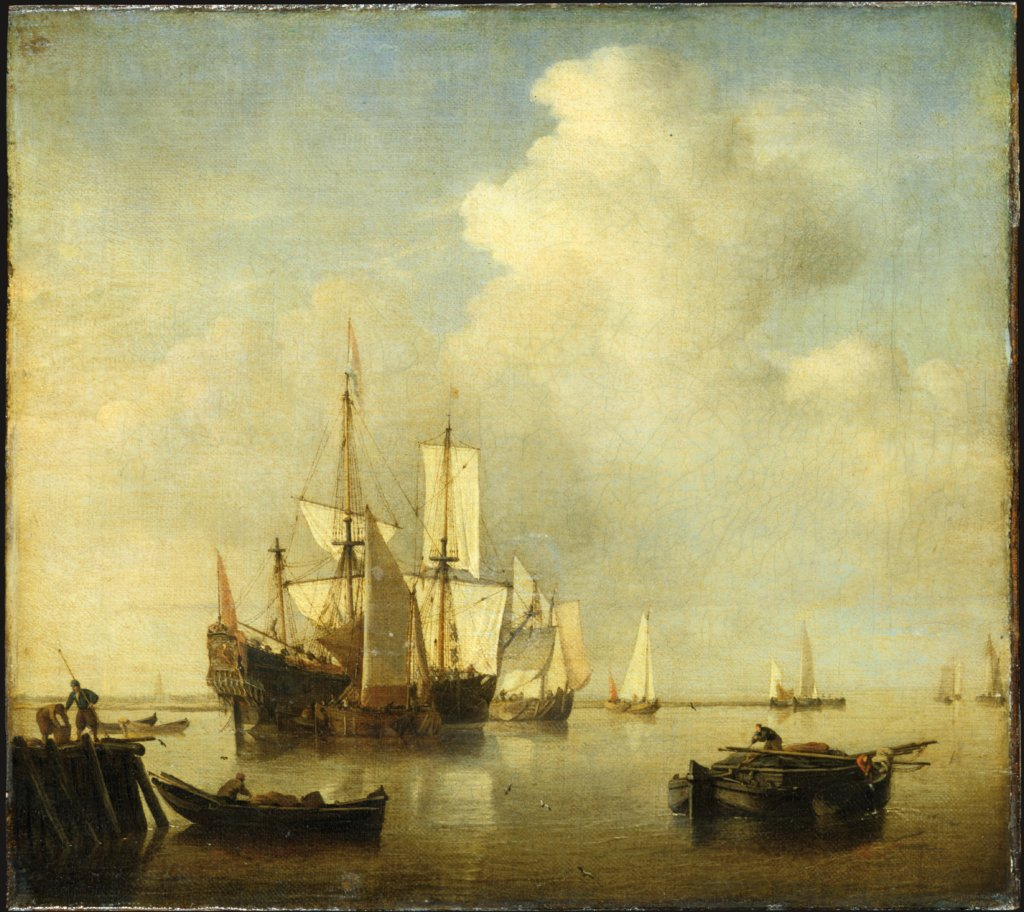 Calm Sea, Willem van de Velde the Younger  and workshop