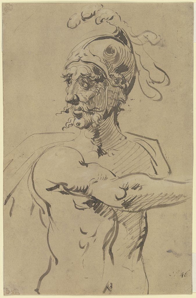 Warrior in half figure, Jacques de Gheyn II   ?