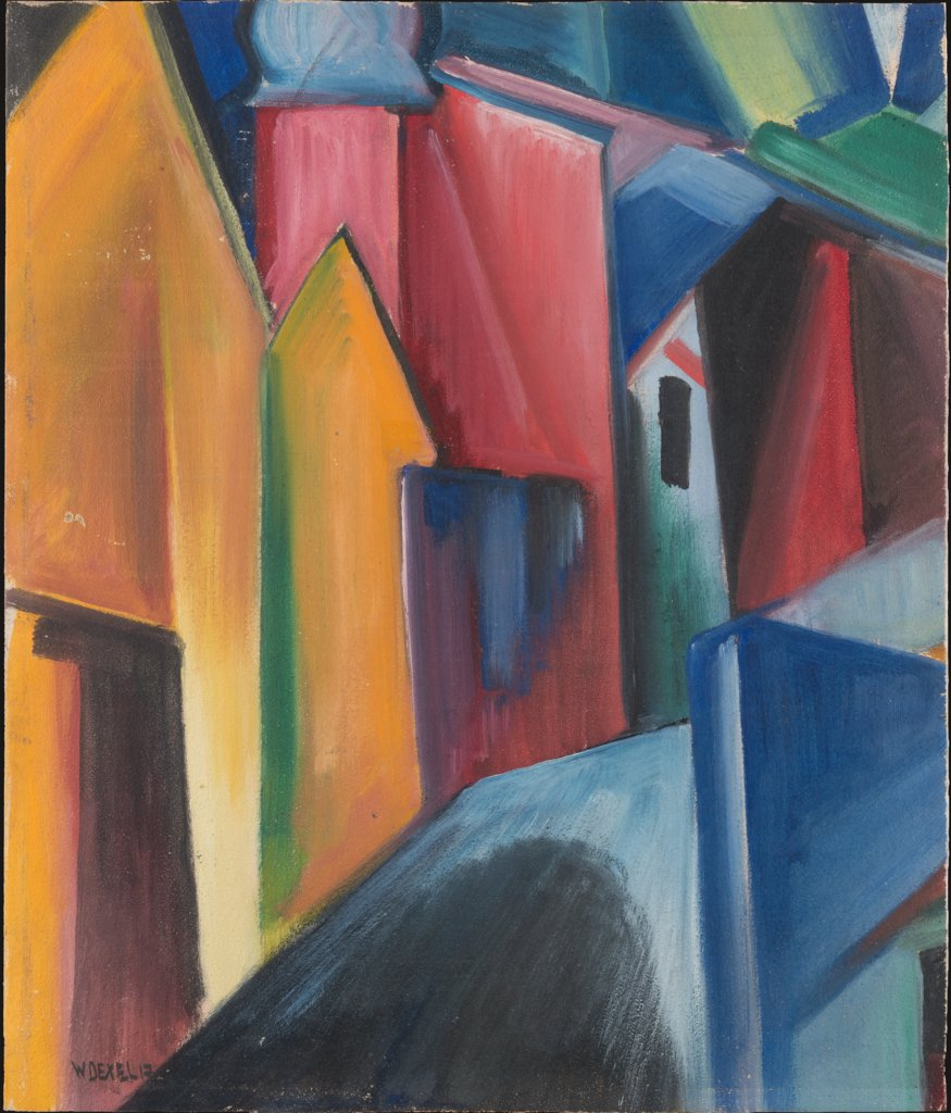 House with Onion Tower (Fragment), Walter Dexel