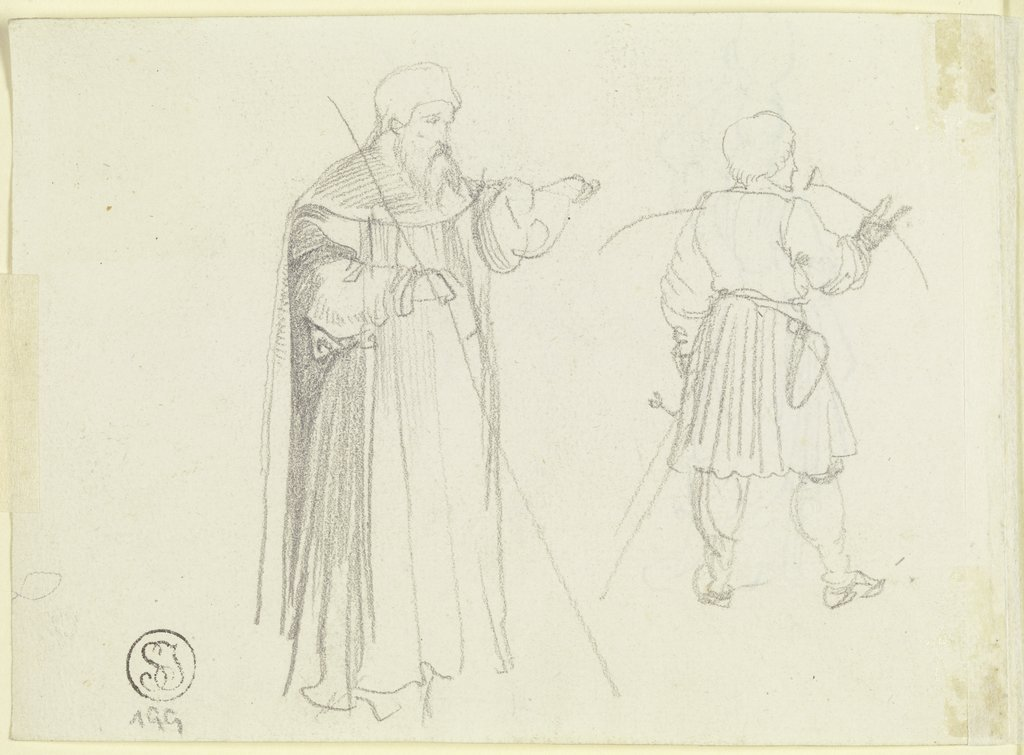 Figural studies, Carl Philipp Fohr