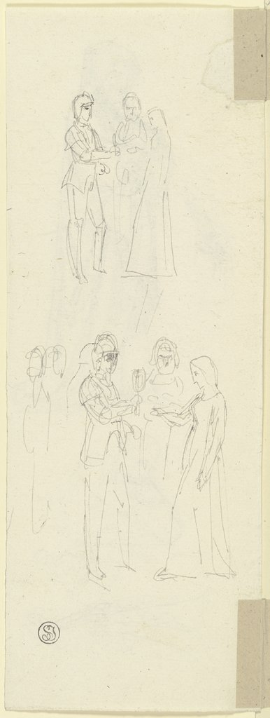 Group of three figures, Gustav Heinrich Naeke