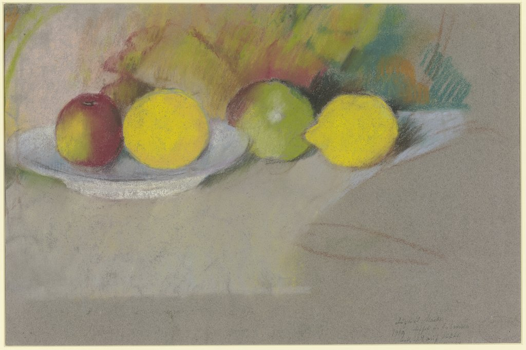 Apples and lemons, August Macke
