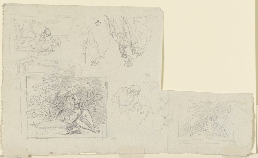 Composition sketches, Gustav Heinrich Naeke
