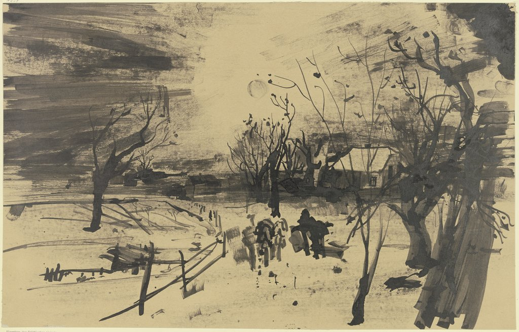 Wintery landscape, Gottfried Richter