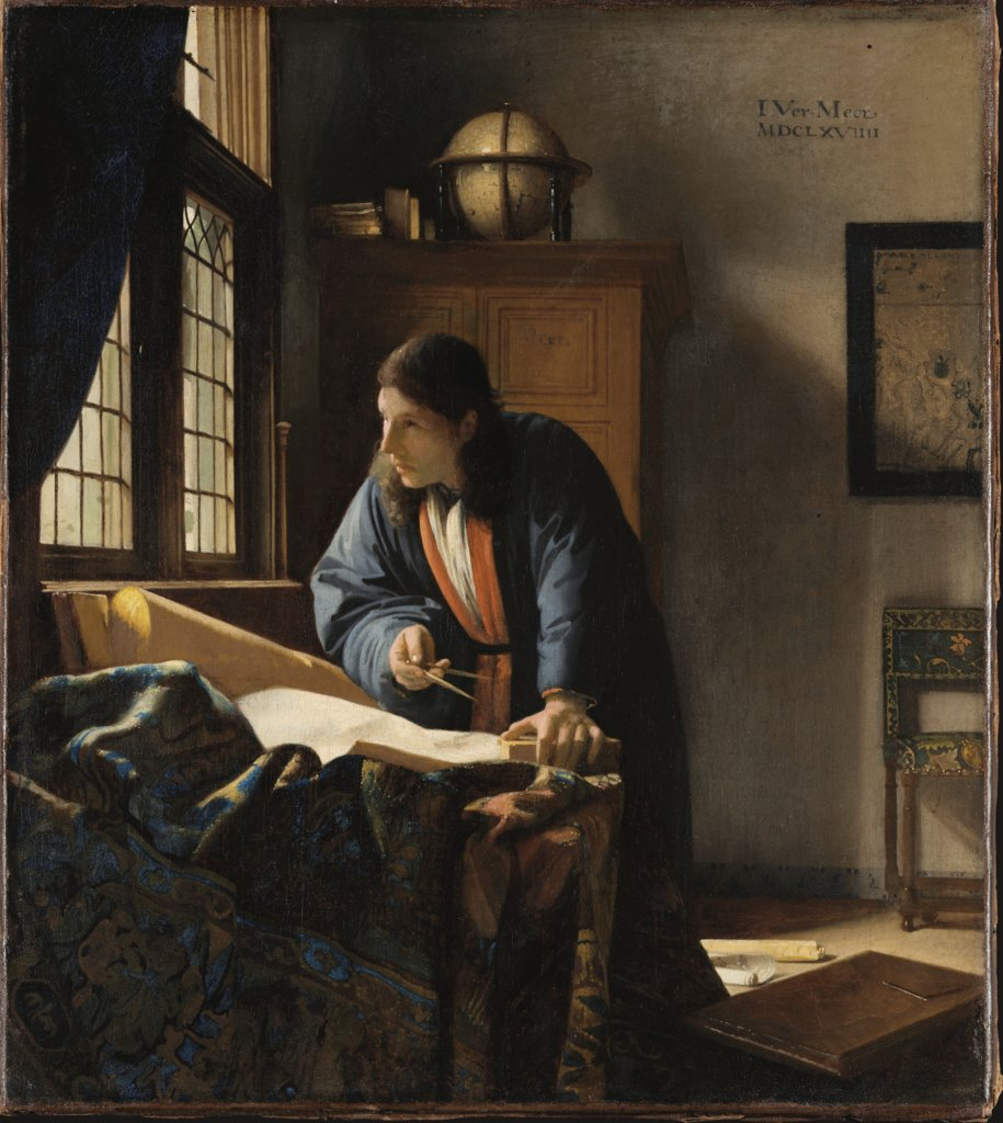 The Geographer, Johannes Vermeer
