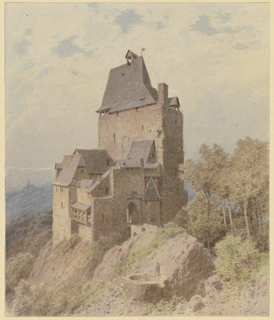 Castel on high mountain, Carl Theodor Reiffenstein