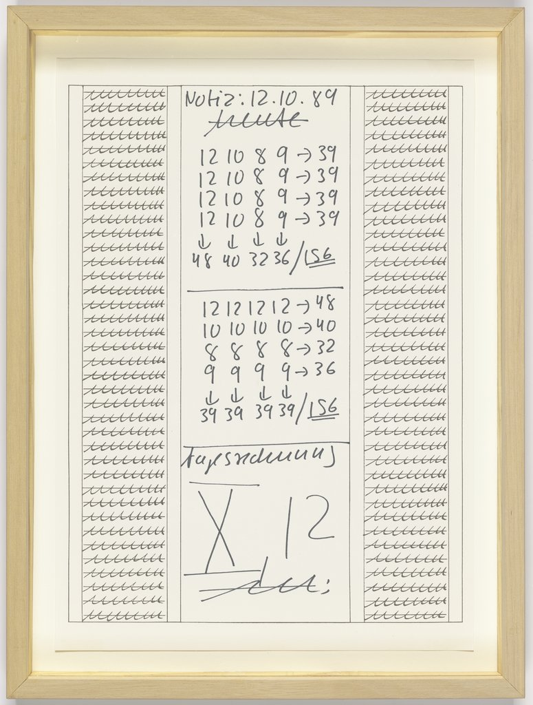 Untitled, Hanne Darboven