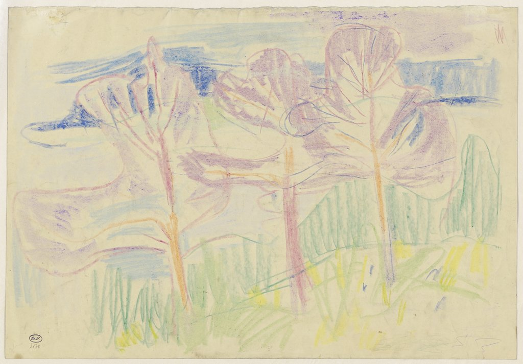 Landscape with trees, Rolf Nesch