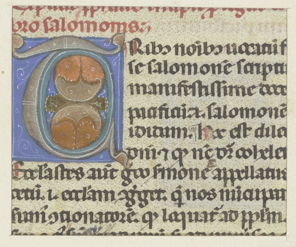 Initials, Bolognese, 14th century