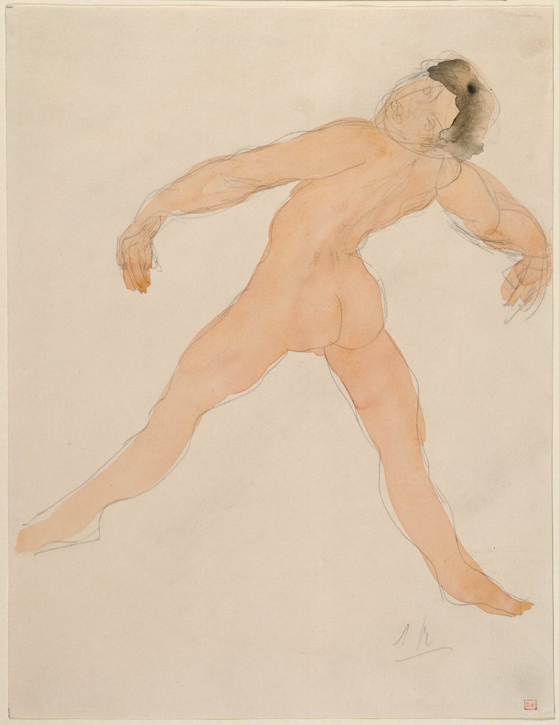 Woman Dancing with Her Head Thrown Back, rear view, Auguste Rodin