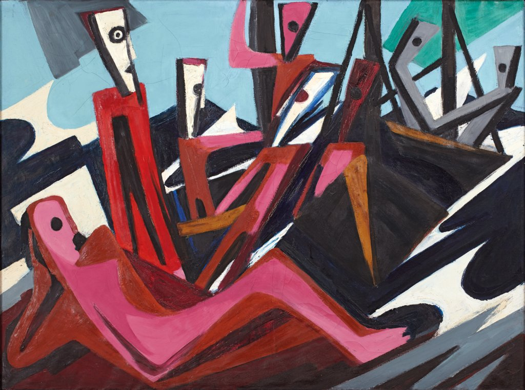 Fishermen Setting Sail, Ernst Wilhelm Nay