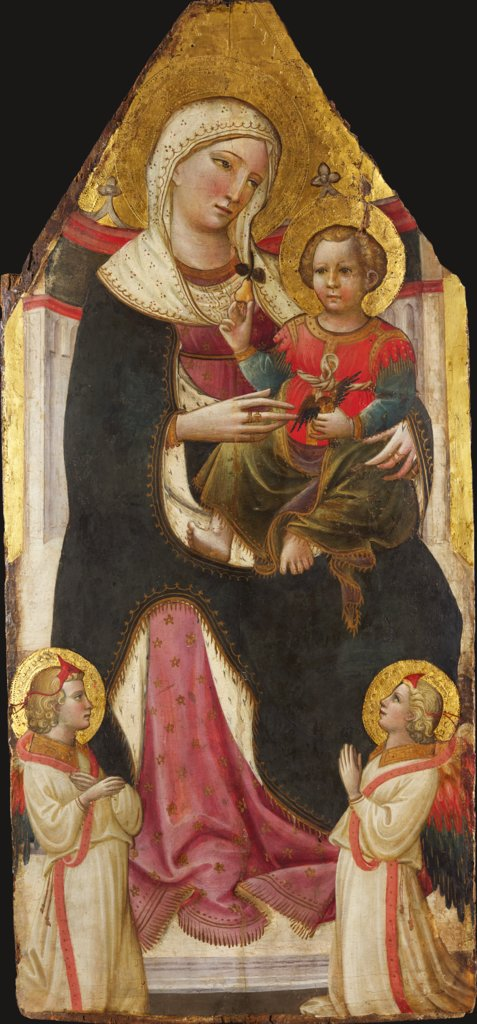 Enthroned Madonna and Child with Angels, Giovanni dal Ponte