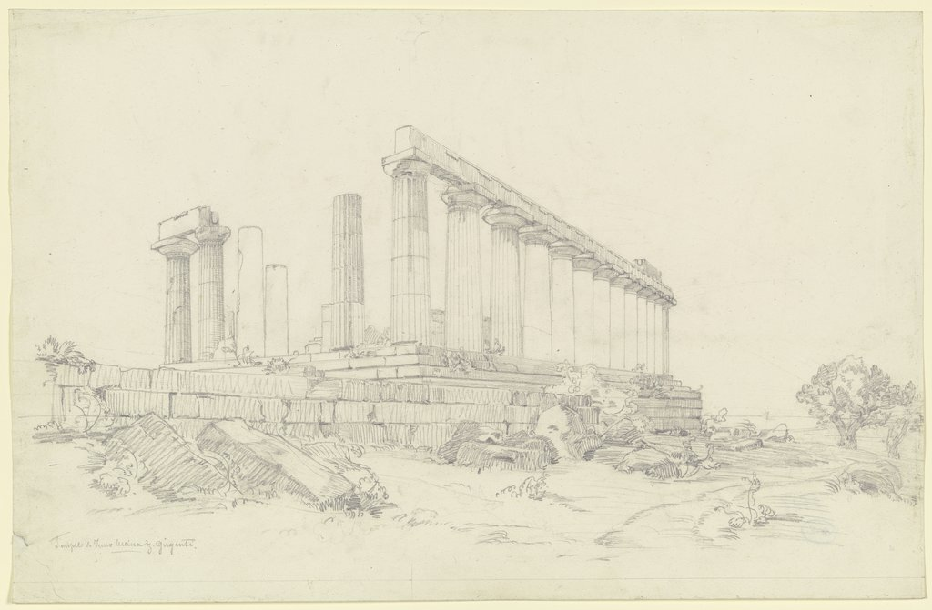 Temple of Juno near Agrigento, Ludwig Metz