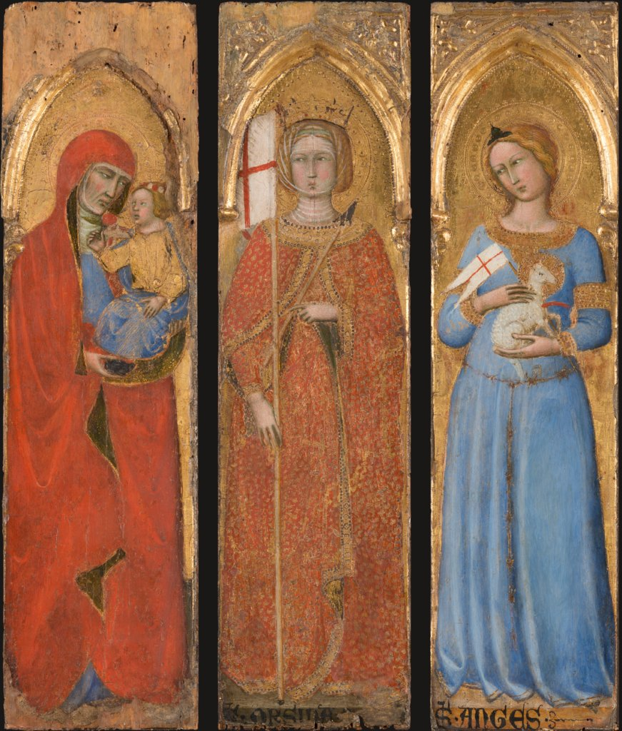 Saint Anna and the Infant Mary; Saint Ursula; Saint Agnes, Andrea di Vanni d'Andrea Salvani