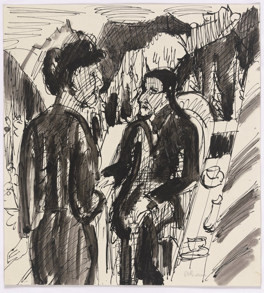 Bossarts on the balcony, Ernst Ludwig Kirchner