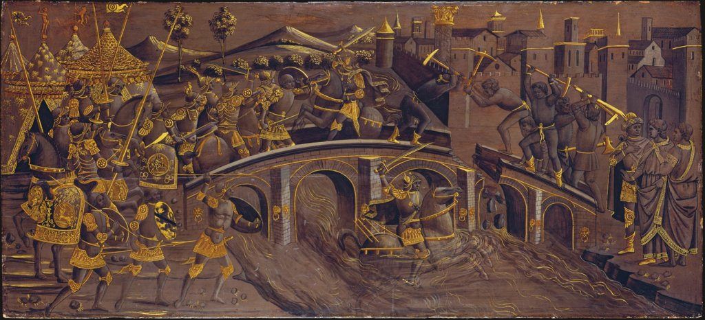 Horatius Cocles Defends the Roman Bridge against Porsenna, Florentine Master ca. 1480