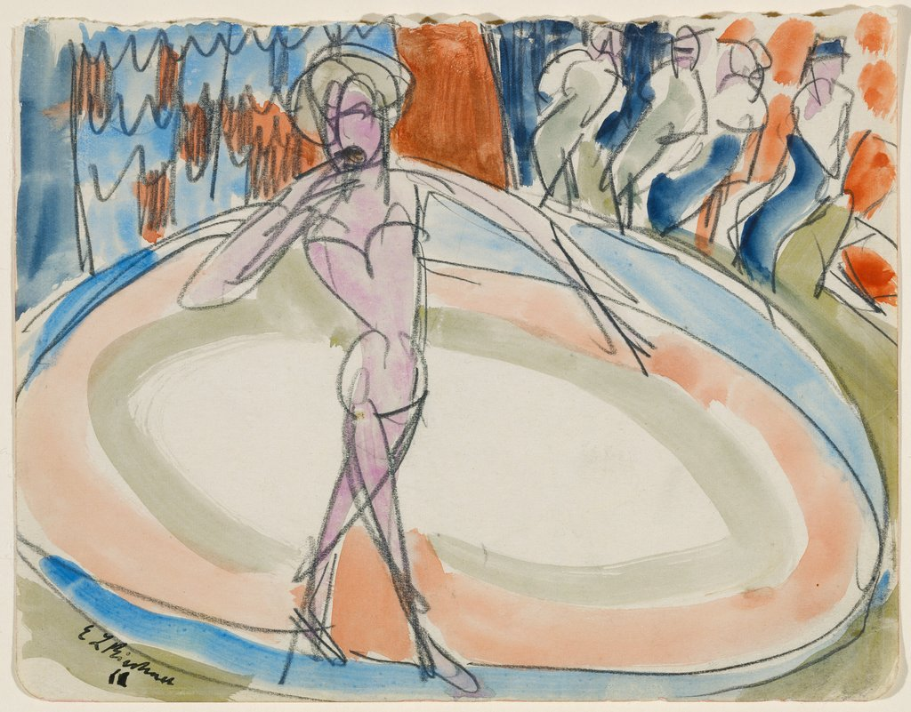 Dancing woman at the cabaret, Ernst Ludwig Kirchner