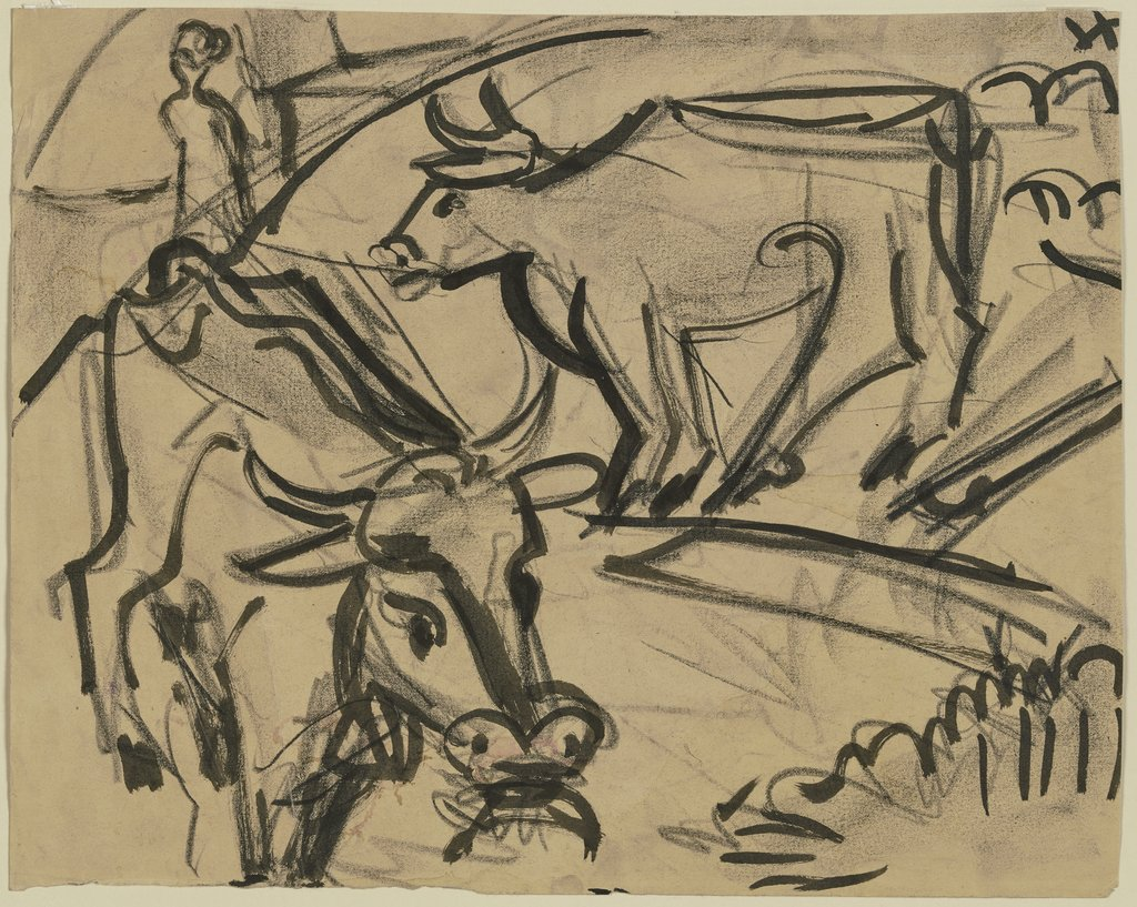 Two cows, Ernst Ludwig Kirchner