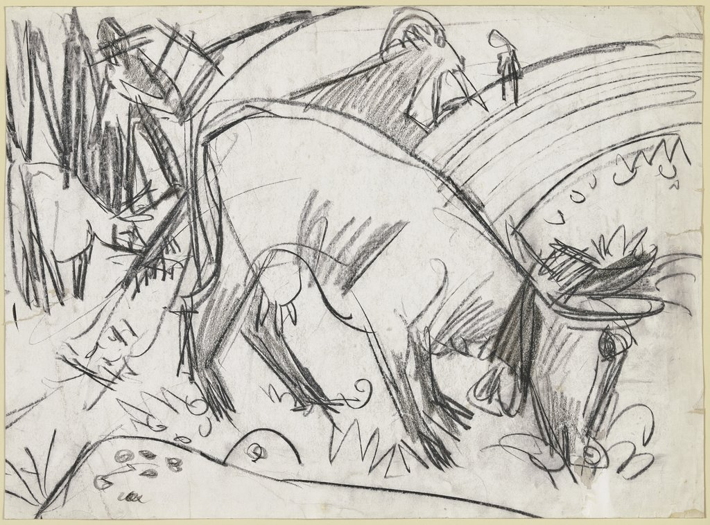 Grazing cow, Ernst Ludwig Kirchner