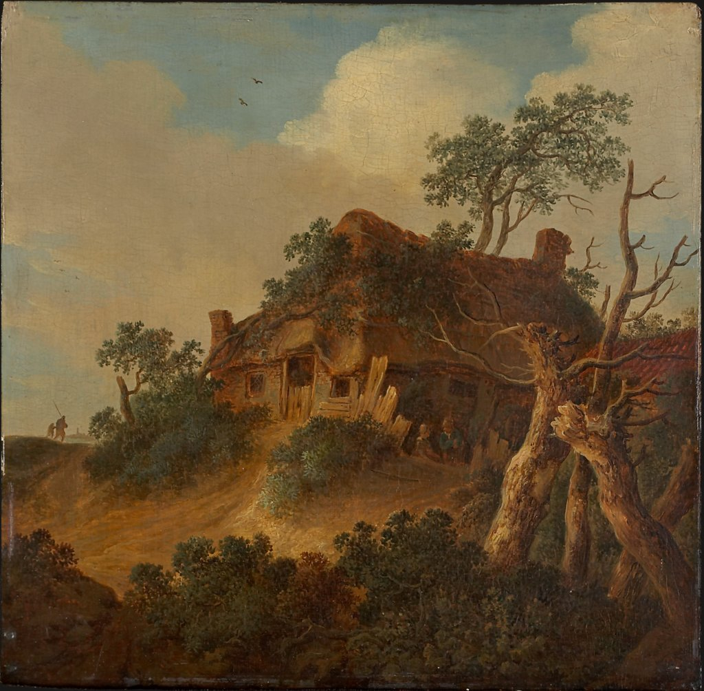 Landscape with Farm House on a Hill, Cornelis van Zwieten  circle ?