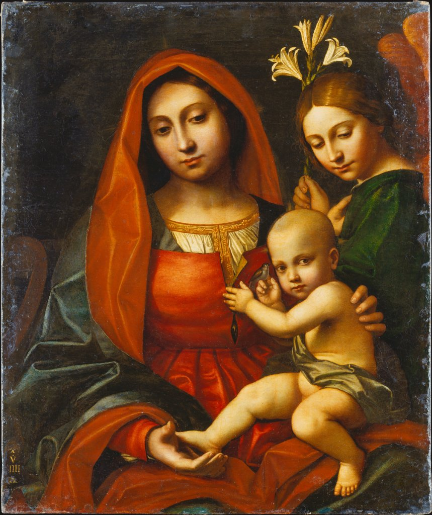 Madonna and Child with an Angel, Cavazzola (Paolo Morando)