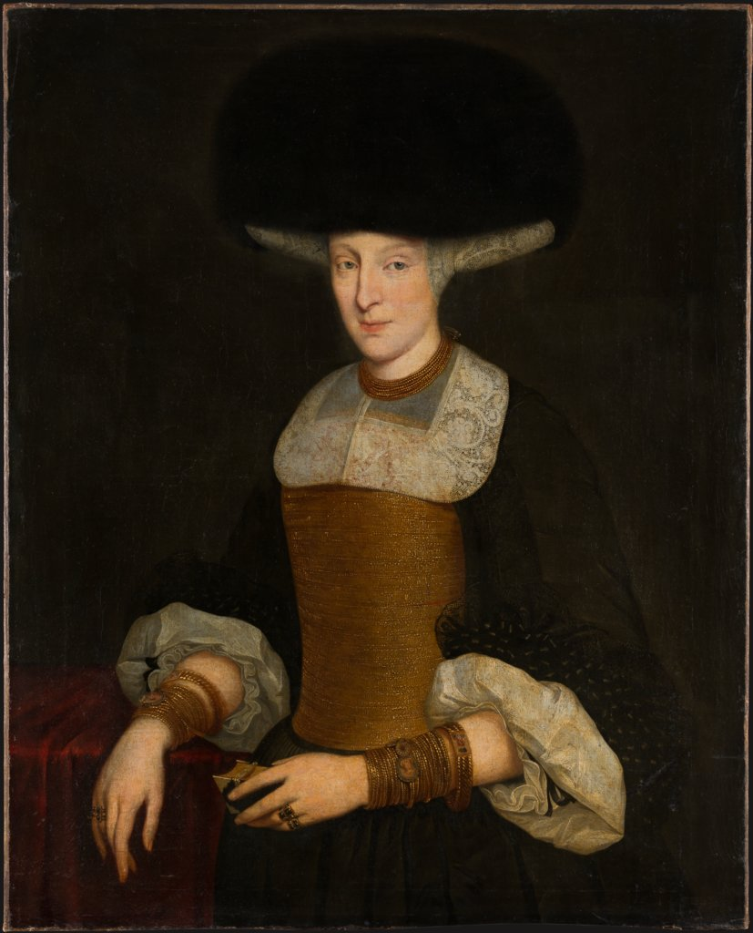 Portrait of a Richly Dressed Young Woman, Theodor Roos