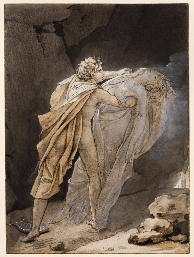 Orpheus tries to hold on to Eurydice, François Gérard