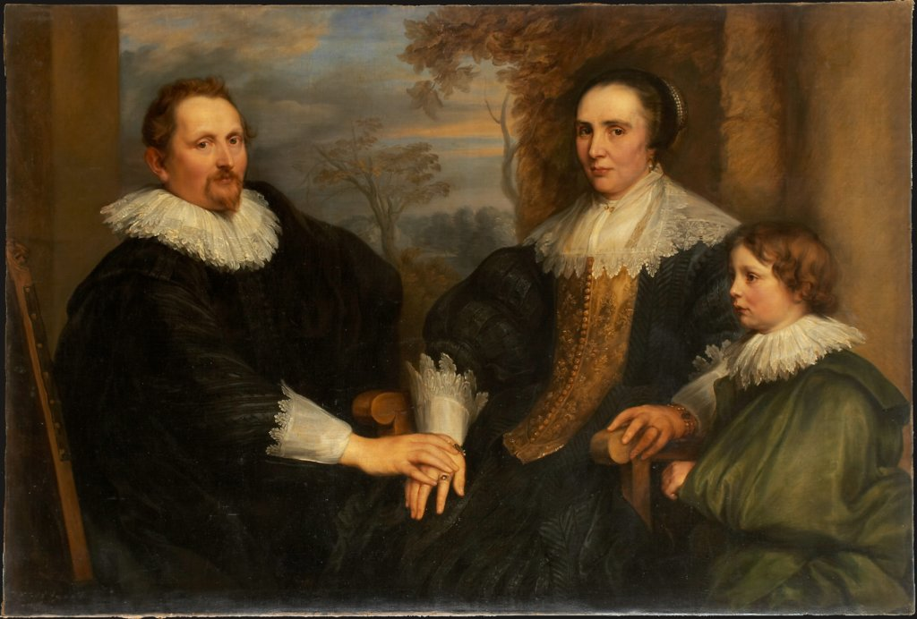 Portrait of the Antwerp Merchant Sebastiaen Leerse and his Family, copy after Anthony van Dyck