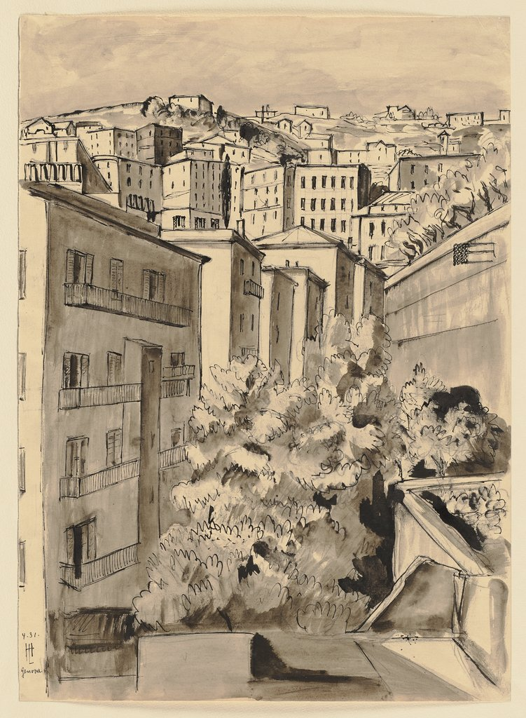 View of Genoa, Hermann Lismann