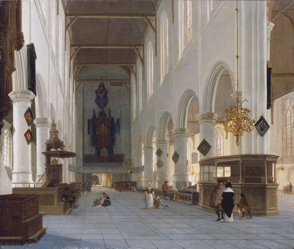 The Interior of the Oude Kerk in Delft, Hendrik Cornelisz. van Vliet