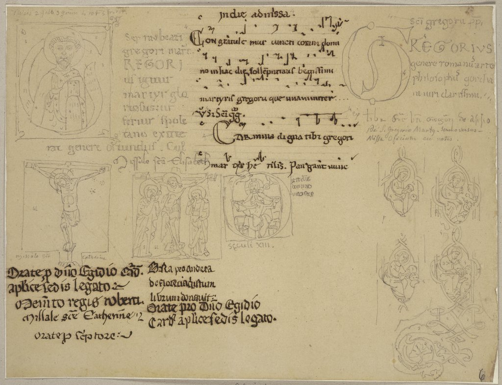 Initials from Assisi, Johann Anton Ramboux
