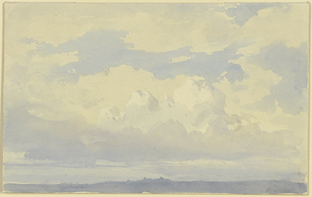 Wolkenstudien, Karl Peter Burnitz