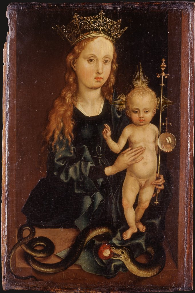 Madonna with Child, Martin Schongauer  imitator