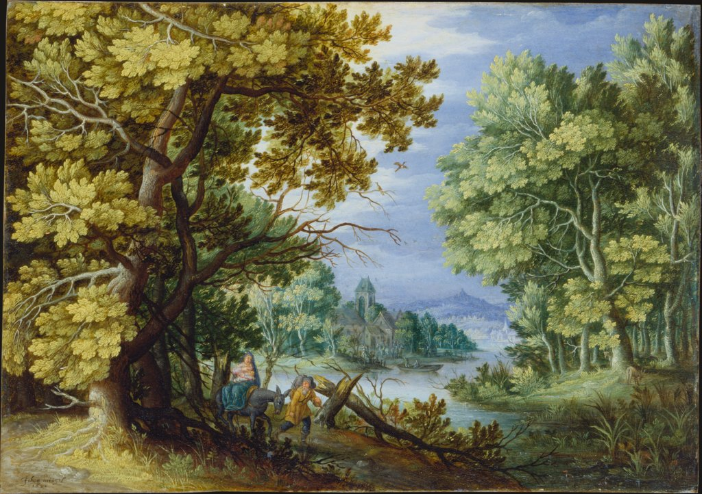 Forest Landscape with Flight into Egypt, Jan Brueghel the Younger  Nachfolge