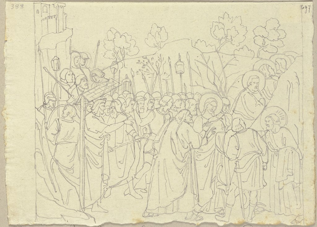 The Taking of Christ, Johann Anton Ramboux, after Puccio Capanna