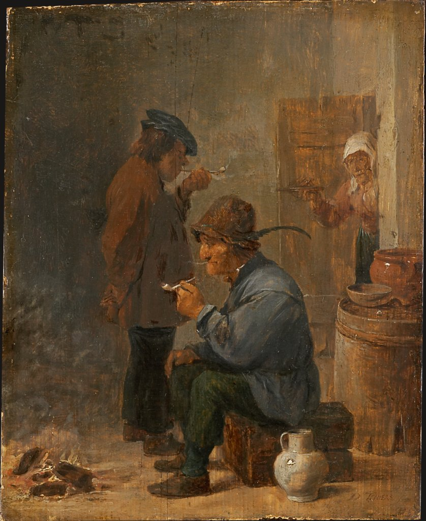 Two Smoking Peasants at the Coal Fire, David Teniers the Younger