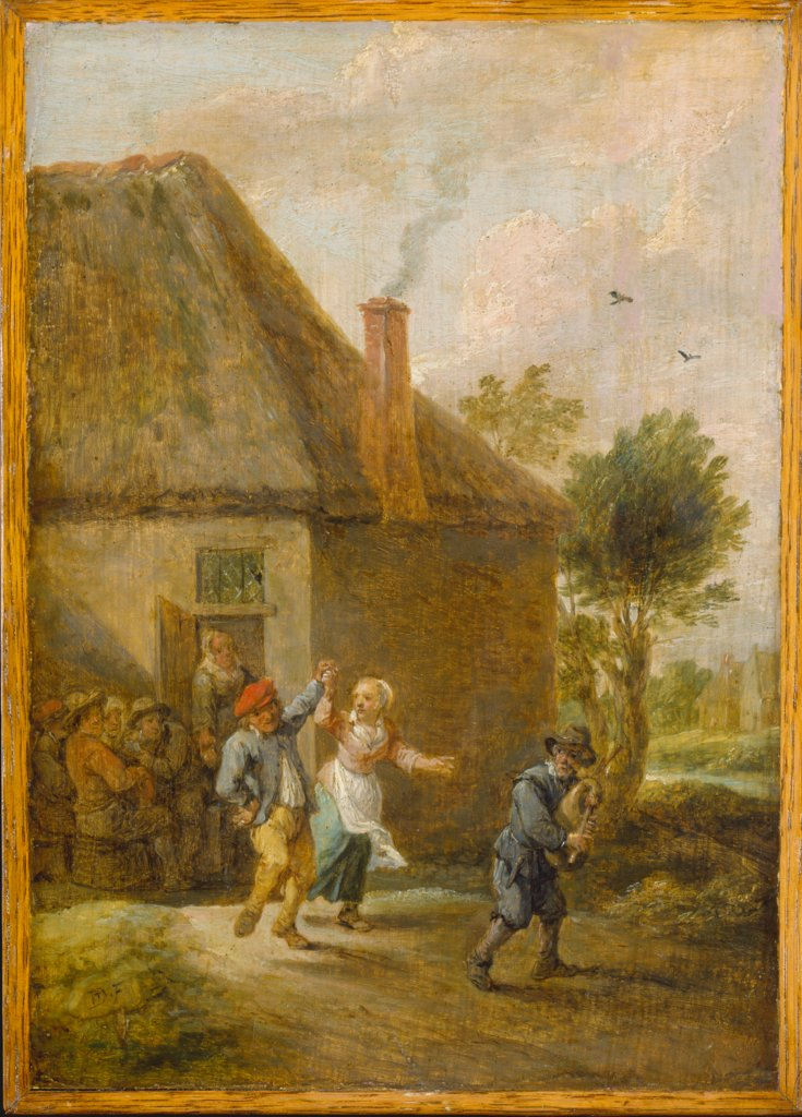 Peasants Dancing in Front of an Inn, David Teniers the Younger