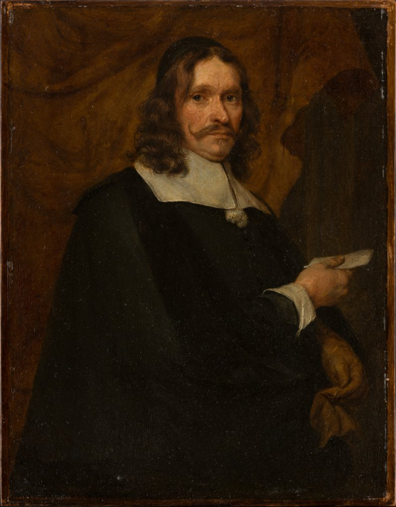 Portrait of a Man with Letter, Gonzales Coques  Umkreis