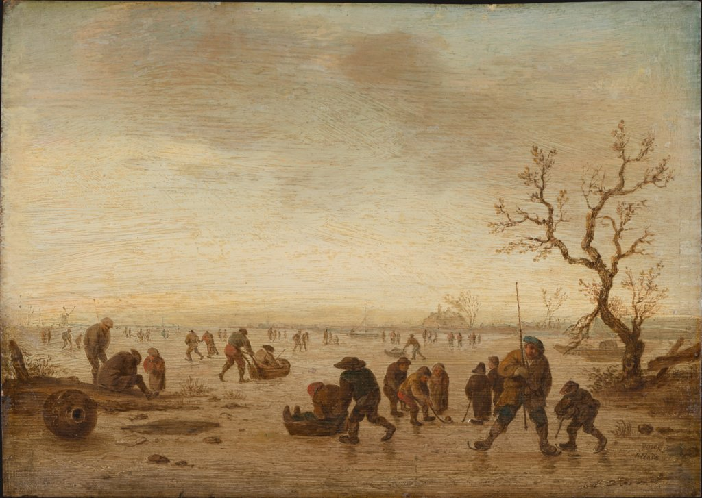 Skaters on the Ice, Isaac van Ostade