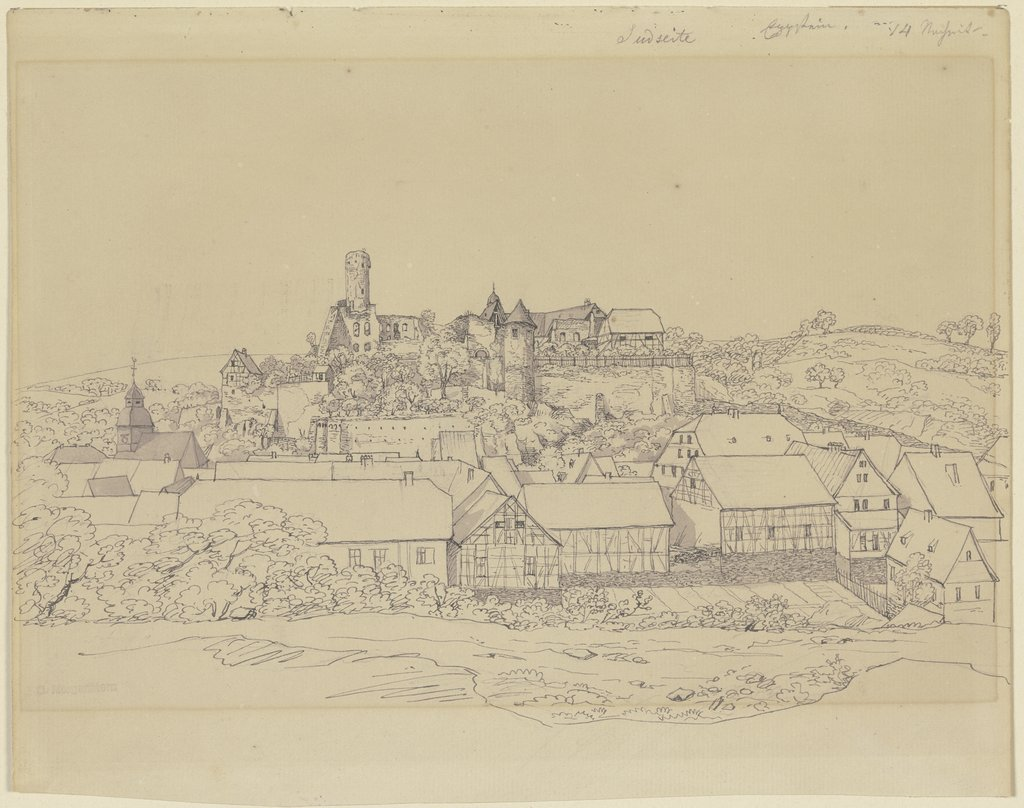 View of Eppstein with castle, Carl Morgenstern