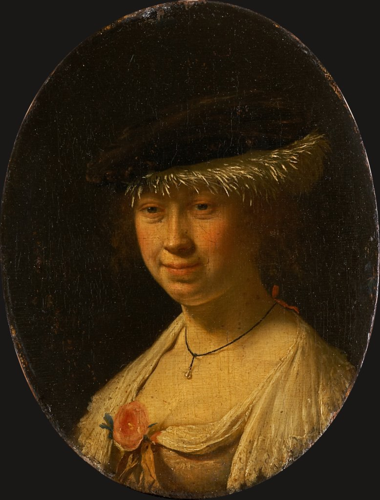 Portrait of a Woman with a Cap, Frans van Mieris the Elder