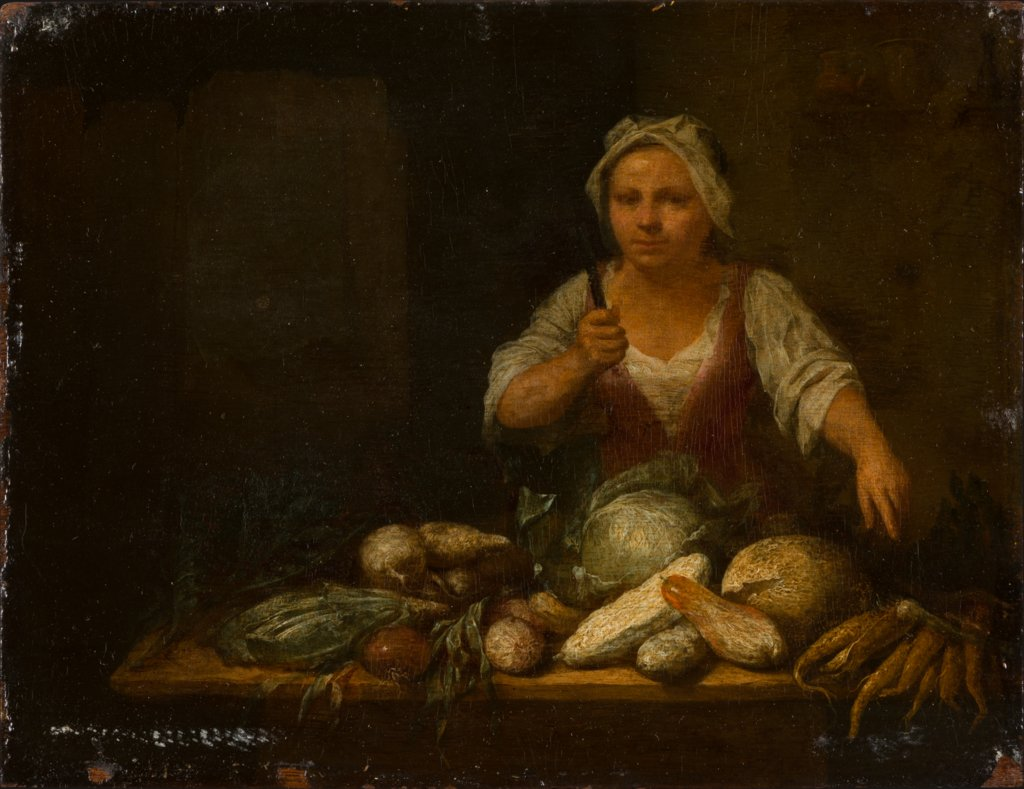 Cook Cleaning Vegetables, Nicolas van Haeften
