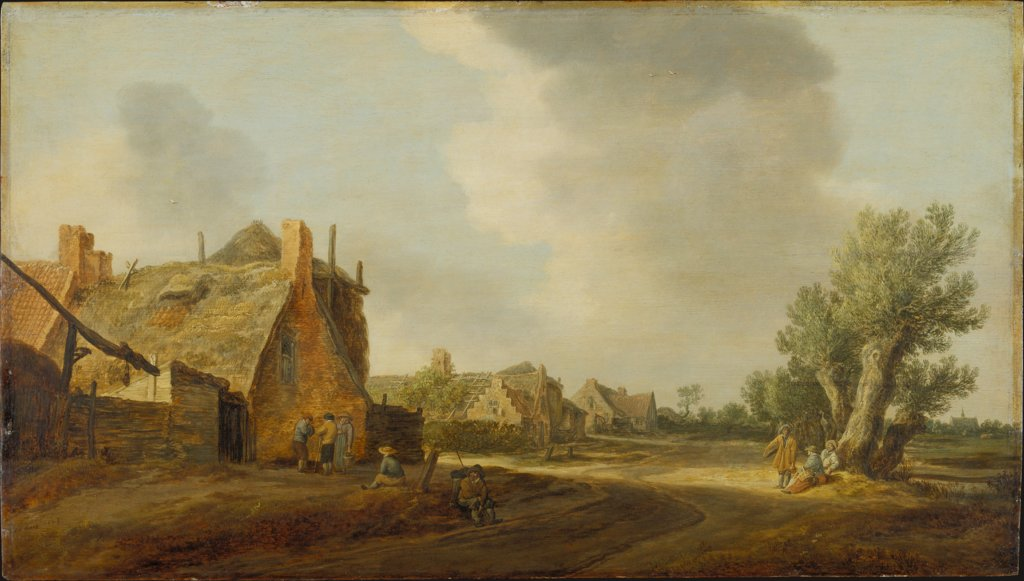 Village Street, Jan van Goyen